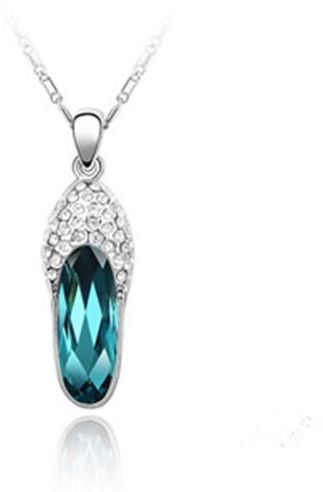 13fe24b77b4 Slippers small color blue crystal necklace