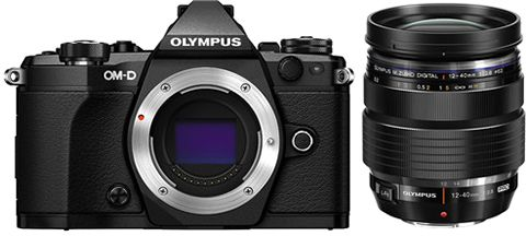 Oly MPus OM - D E - M5 MK II 12 - 40 16 MP SLR Camera - Black