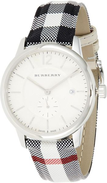 5b4fc85fb Burberry Men s White Dial Leather Band Watch - BU10002