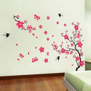 Plum Blossom Wall Stickers Removable Wallpaper Living Room Bedroom