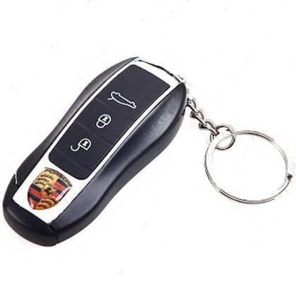 Porsche Car Remote Control Shaped Butane Flame Lighter With Keychain
