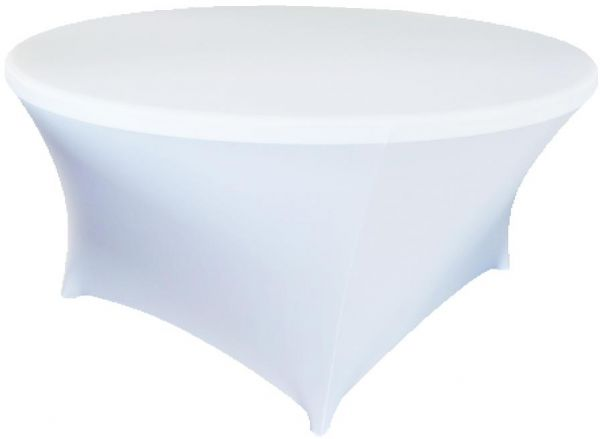 Takara Decor Spandex Stretch 5 Foot Round Table Cover White Souq