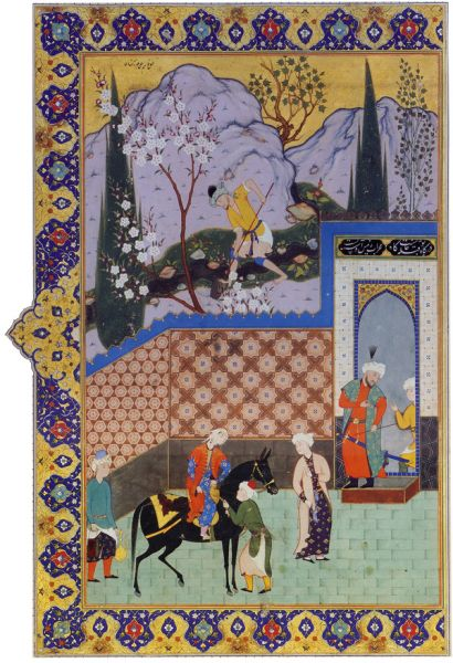 Souq | Kalia Wall Art Canvas Persian Miniature From Khamseh By ...
