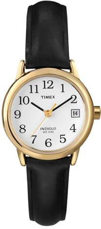 c86f949fbdb8 Timex Easy Reader Women s White Dial Leather Band Watch - T2H3419J ...