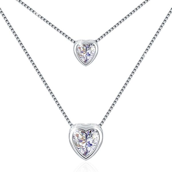 Swarovski Elements 925 Sterling Silver Pendant Necklace for girlfriend JRosee Jewelry JR109