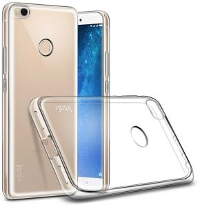 new arrivals 195fa 2a178 Imak Xiaomi Mi Max 2 - Clear TPU Gel Soft Case Cover With Screen Protector