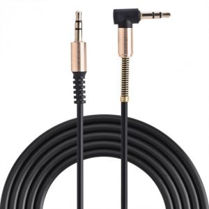 3.5mm Male to Male Aux Cable L-Shaped + I-Shaped Cord for Speaker Headphone