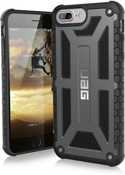 detailed look ada88 3cb0c URBAN ARMOR GEAR UAG iPhone 7 Plus / iPhone 6s Plus [5.5-inch screen]  Monarch Feather-Light Rugged [GRAPHITE] Military Drop Tested iPhone Case