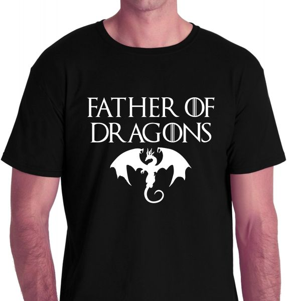 b403bc52 Game of Thrones Father of Dragons Black Round Neck T-Shirt For Men ...