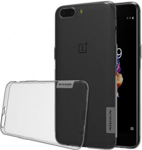 NILLKIN Nature TPU clear Oneplus 5 case Transparent soft Luxury back cover for one plus 5 oneplus5 - Gray