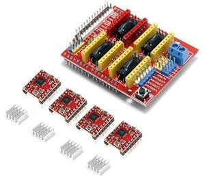 CNC Shield Expansion Board +4x A4988 Stepper Motor Driver