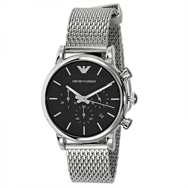 98d8191a0 Emporio Armani Men's Black Dial Stainless Steel Band Watch - AR1811 ...