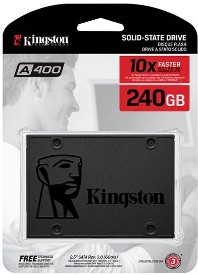 "Kingston A400 Internal SSD 2.5"" 240GB SATA 3 - SA400S37/240G"