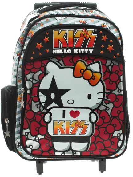 0f86bc970e Sanrio Hello Kitty Kiss 45932 School Bag with Double Handle Trolley ...