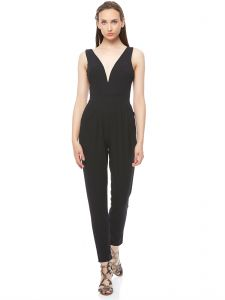 8baca50607c Wal G Solid Padded V Neck Jumpsuit for Women - Black