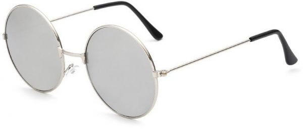 b336f5e1650 Silver Frame with Silver Lens Fashion UV400 Round Sunglasses John ...