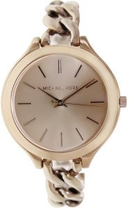3d8a83271e2f Michael Kors Runway Women s Rose Gold Dial Stainless Steel Band Watch -  MK3223