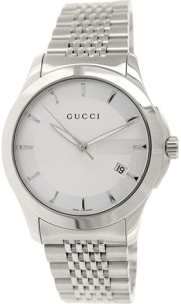 4bbb4fe4126 Gucci G-Timeless Men s White Dial Stainless Steel Band Watch ...