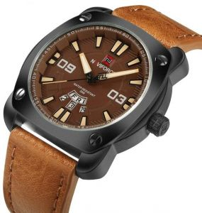 dec292dc39f NAVIFORCE Original Luxury Brand Sports Quartz Watch Men Leather Army  Military Wristwatch Calendar Clock relogio masculino 9096