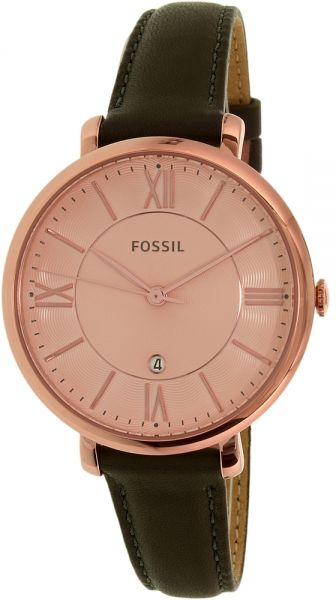 03d7d7681 Fossil Women's Rose Gold Dial Leather Band Watch - ES3707 | مصر | سوق