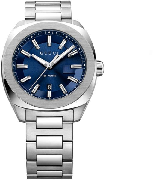 b6a240d57f8 Gucci Men s Blue Dial Stainless Steel Band Watch - YA142303