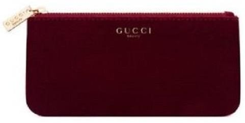 d6d6236f5e2 Gucci Beauty Red Cosmetic Pouch Makeup Bag