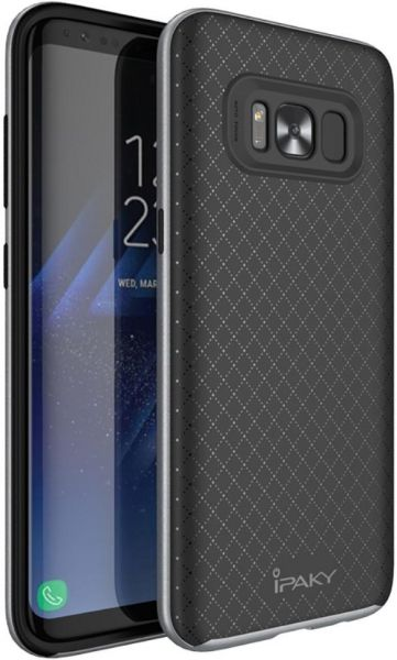 For Samsung Galaxy S8 Plus G955 - IPAKY 2-in-1 PC Frame   TPU Hybrid Case -  Grey  e66194a44503d