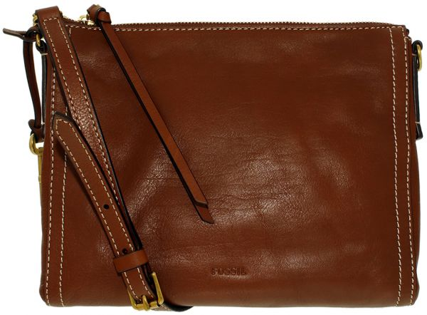 Fossil Bag For Women Brown Baguette Bags