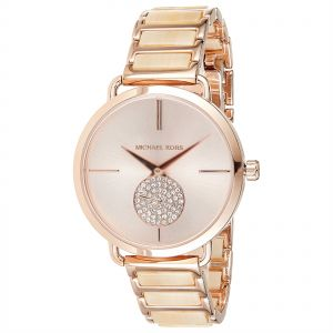 75f78d87ac9 Michael Kors Women s Rose Gold Dial Stainless Steel Band Watch - MK3678