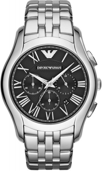 Emporio Armani Classic Men's Black Dial Stainless Steel Band Watch - AR1786