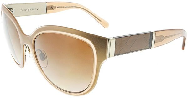 409da3dcfc44 Burberry Oval Women s Sunglasses - BE3087-121813-57 - 57-17-140 mm