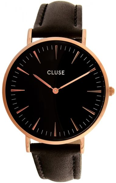 081cf8acbae Cluse Women s Black Leather Band Watch - CL18001