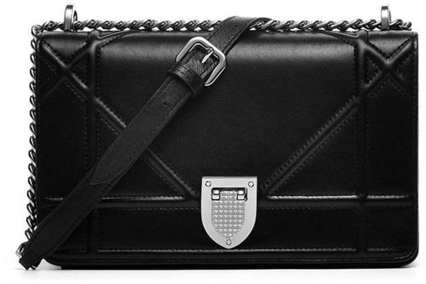 cfde8ea6e3ec Casual black colour Messenger Shoulder Crossbody Bag for women ...
