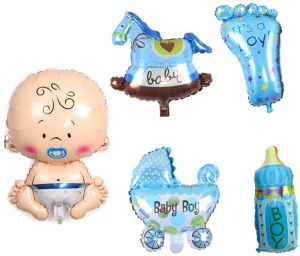 5pcs Set Children Baby Shower Boy Kids Party Decoration Giant Foil Balloon Baby Birthday Party Decorations Supplies Buy Online Party Supplies At Best Prices In Egypt Souq Com