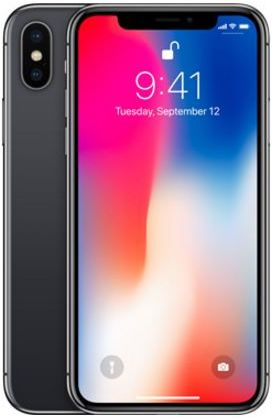 Apple iPhone X without FaceTime - 256GB, 4G LTE, Space Grey