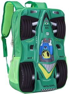 65f522e9bfcd Gifts and More 3D Racing Car 18 inch Backpack For Boys - Green