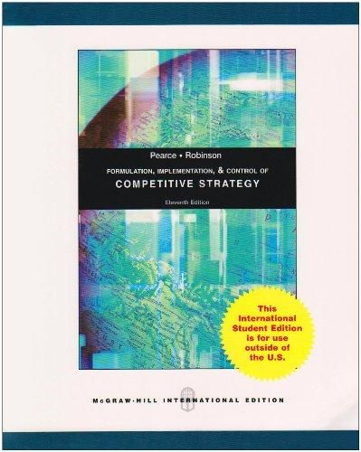 Formulation, Implementation And Control Of Competitive Strategy ,Ed. :11