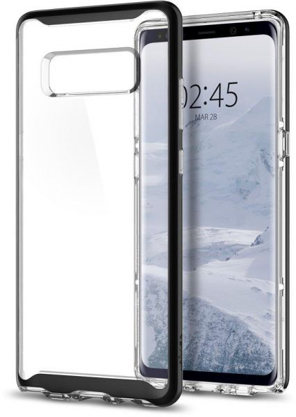 brand new 232f8 9f32d Galaxy Note 8 Case , Spigen Neo Hybrid Crystal with Clear Hard Casing and  Hard Frame Black