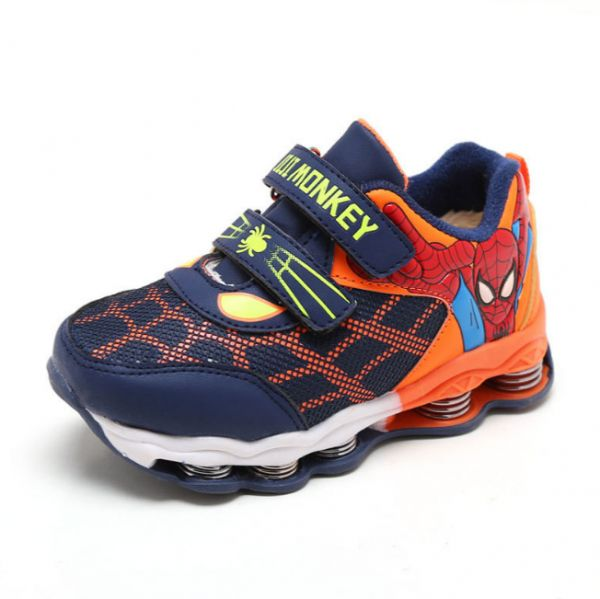 Anime spider man modeling sports shoes for children