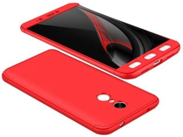 official photos 41427 e1a0d Xiaomi Redmi Note 4 Gkk 360 Full Protection Cover Case - Red