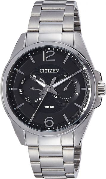 Citizen Men's Black Dial Stainless Steel Band Watch - AG8320-55F