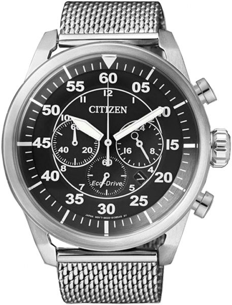 Citizen Men's Black Dial Stainless Steel Band Watch - CA4210-59E