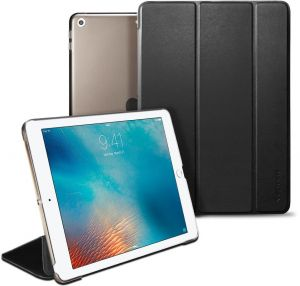 Spigen Apple iPad 9.7 inch (2017) Smart Fold cover / case - Black with Auto Sleep and Wake function