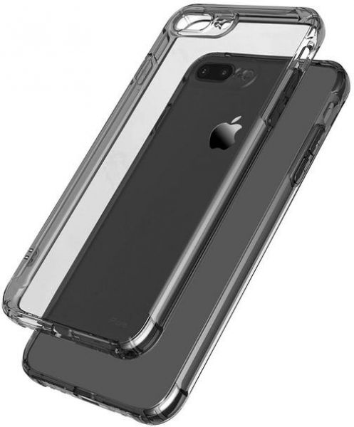 detailed look b5687 1302c Soft Armor Drop TPU Case for Iphone 8 PLUS Cases Cover Silicone Transparent  Clear Case- BLACK