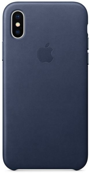 the latest 6bbda 06a94 Apple iPhone X Leather Case - Midnight Blue, MQTC2ZM/A