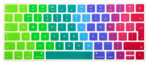"Ozone Rainbow Silicone Keyboard Cover Skin For Apple Macbook Pro/air/retina 13"""" 15"""" 17"""" (uk Layout)"