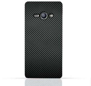 Samsung Galaxy J1 Ace Pro TPU Silicone Case with Carbon Fiber Pattern