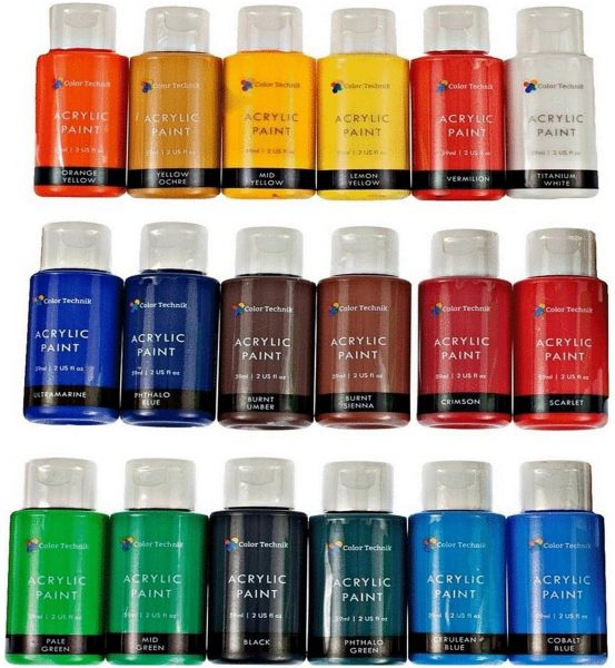 Color Technik Acrylic Paint Set 18x59ml Bottles Souq Uae