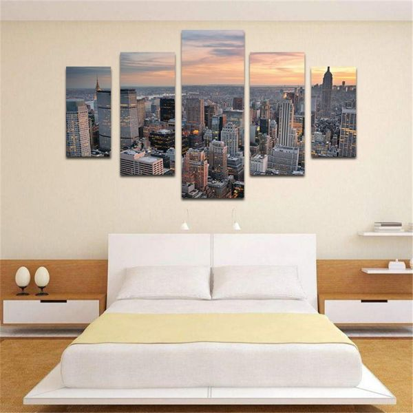 5pcs Unframed New York Large Modern Canvas Wall Art Oil Painting ...