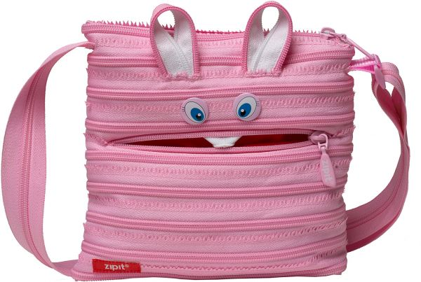 Zipit Bag For Uni Pink Crossbody Bags